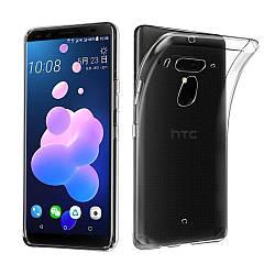 Прозрачный Чехол HTC U12 Plus (ультратонкий силиконовый) (НТС У12 Плюс)