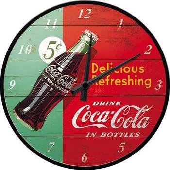 Настенные часы Nostalgic-art Coca Cola Red & Green Clock