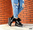 Зимние женские ботинки цвета никель, натуральная кожа, фото 2