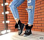 Зимние женские ботинки цвета никель, натуральная кожа, фото 4
