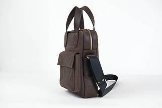"""Чоловіча сумка """"Модель №41"""" Вінтажна шкіра колір Шоколад, фото 3"""
