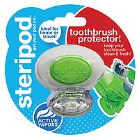 Антибактериальный чехол для зубной щетки Steripod, кристально чистый зеленый (в упаковке 1 шт.)