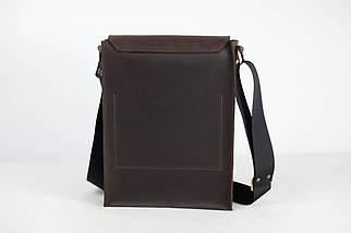 """Мужская сумка """"Модель №42"""" Винтажная кожа цвет Шоколад, фото 2"""