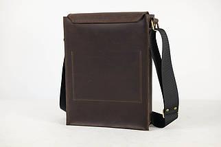 """Мужская сумка """"Модель №42"""" Винтажная кожа цвет Шоколад, фото 3"""