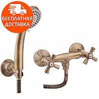 Смеситель для душа двухвентильный Q-tap Liberty ANT 363 бронза