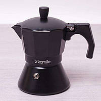 Кофеварка на 9 порций Kamille KM-2513 гейзерная с широким индукционным дном 450 мл, фото 1