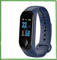 Фитнес-браслет Smart Band M3! Супер Предложение!!! Международный аналог mi band 3 Синий