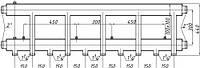 Коллектор стальной с креплением К52Н.150.(300) СК-563.150 (выход вниз)