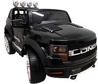 Електромобіль Cabrio LONG+колеса EVA чорний