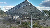 Наземна система кріплень сонячних панелей зі змінним кутом
