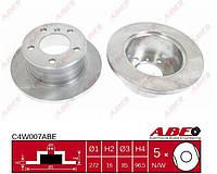 Задний тормозной диск (D272) MERCEDES SPRINTER  VW LT 2.1D-5.5 09.89-