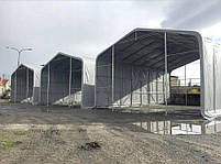Шатер 6х20 метров ПВХ 600г/м2 с мощным каркасом под склад, гараж, палатка, ангар, намет павильон СТО автомойка, фото 3