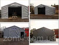 Шатер 6х20 метров ПВХ 600г/м2 с мощным каркасом под склад, гараж, палатка, ангар, намет павильон СТО автомойка, фото 4