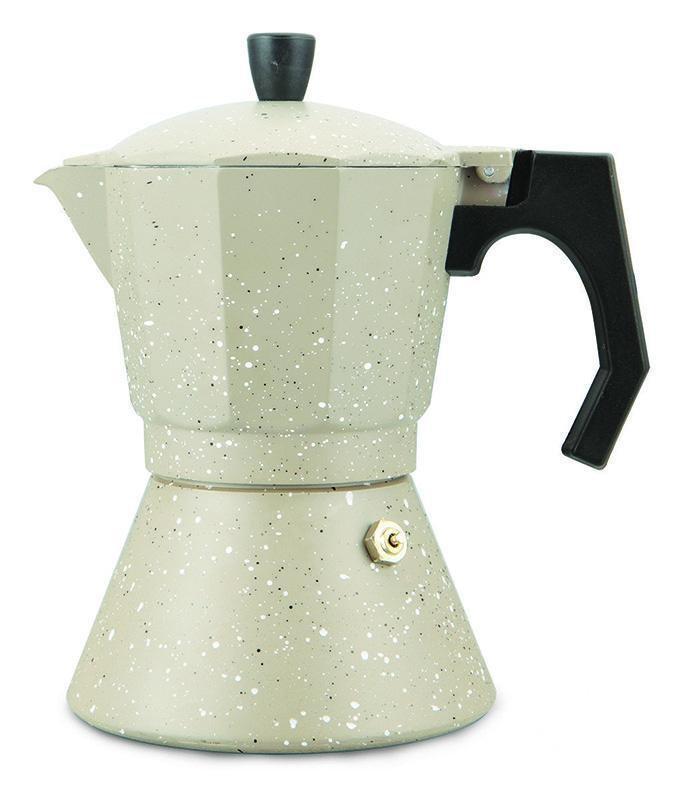 Сучасна гейзерна кавоварка Kamille KM-2517 6 порцій 300 мл для смачної кави