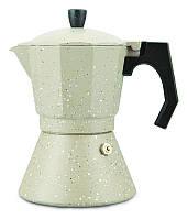 Современная гейзерная кофеварка Kamille KM-2517 6 порций 300 мл для вкусного кофе