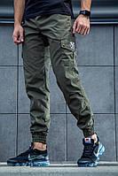 Штаны карго мужские хаки олива зеленые осенние модель REXTIM Criminal Oliva