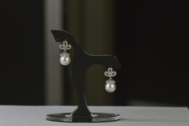 Сережки гвоздики из стерлингового серебра 925 пробы с жемчугом