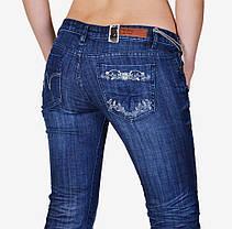 Синие джинсы с потертостями (WL028) | 5 шт., фото 2