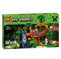 Конструктор Bela 10471 Домик на дереве в джунглях, 718 деталей, реплика Minecraft, фото 1