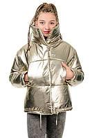 Куртка-одеяло Марго металлик-шампань размеры : 42, 44, 46