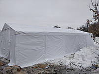 Шатер 8х12 метров ПВХ 560г/м2 с мощным каркасом под склад, гараж, палатка, ангар, намет павильон садовый белый, фото 3