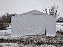 Шатер 8х12 метров ПВХ 560г/м2 с мощным каркасом под склад, гараж, палатка, ангар, намет павильон садовый белый, фото 5