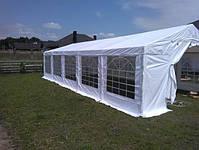 Шатер 8х12 метров ПВХ 560г/м2 с мощным каркасом под склад, гараж, палатка, ангар, намет павильон садовый белый, фото 8