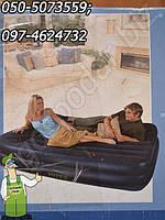 Большой, высокий двухместный пляжный матрас Intex шириной 163 см + встроенный насос, фото 1
