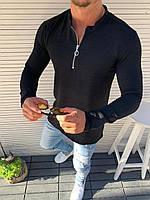 Рубашка мужская приталенная черная, фото 1