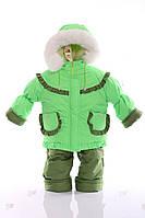 Детский конверт-комбинезон-куртка Тройка фисташковый, фото 1