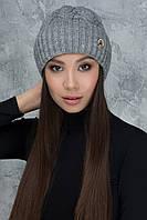 Темно-серая шапочка Лия