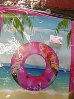 Детский надувной круг для моря с рисунком Эльза