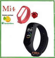 Фитнес браслет ОРИГИНАЛ Xiaomi Mi Band 4 + красный ремешок в подарок