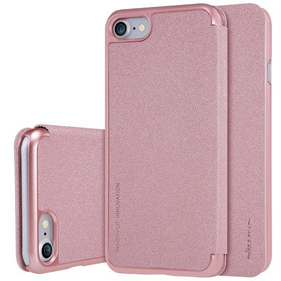 Чехол Nillkin Sparkle Leather Series Apple iPhone 7 Rose Gold