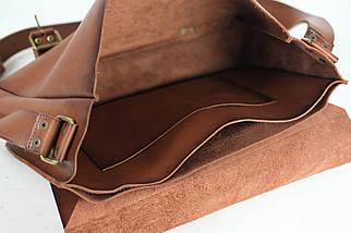 Кожаная мужская сумка Джоерман, натуральная кожа итальянский Краст цвет Коричневый, фото 2
