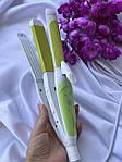Kemei КМ-2208 для укладки волос 3в1 - плойка, гофре , утюжок., фото 2