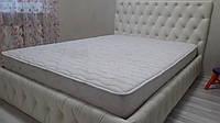 Двуспальная кровать белая. Белая кровать. Каретная стяжка двуспальной кровати.