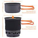 Комбинированная система для приготовления пищи Widesea 750 мл.,газовая горелка. система для приготування їжі, фото 8