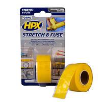 HPX Stretch&Fuse - силиконовая вулканизирующая лента для изоляции и герметизации электрокоммуникаций - 3м - желтая