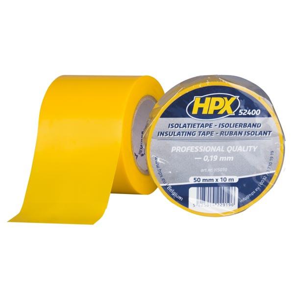 Широкая изоляционная лента HPX 52400 - 50мм x 10м - толщина 0,19мм - желтая