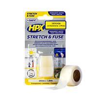 HPX Stretch&Fuse - силиконовая вулканизирующая лента для изоляции и герметизации -  0,8м - прозрачная