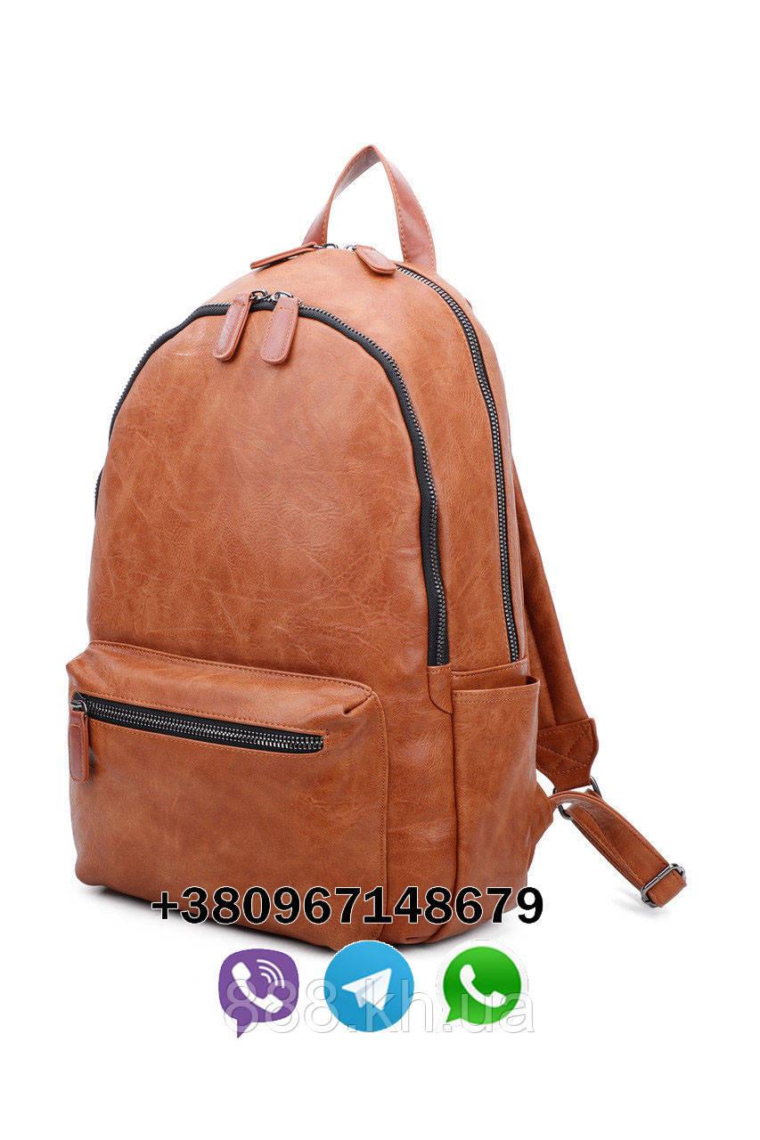 Мужской кожаный рюкзак для ноутбука, офисный рюкзак, городской рюкзак, женский рюкзак, фото 1