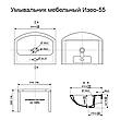 """Тумба под раковину для ванной комнаты Марко 55 Т-1 с умывальником """"Изео"""" Юввис, фото 2"""