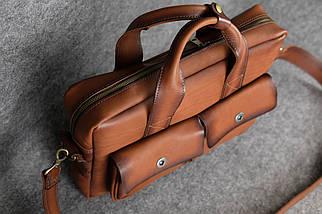 """Мужская сумка """"Модель №49"""" Кожа Итальянский краст цвет Коричневый, фото 3"""