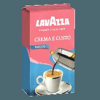 Кофе молотый Lavazza Crema e Gusto Dolce 250 г в цветной упаковке