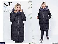 Женское пальто черное хаки 48-50 52-54