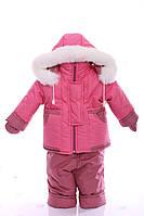 Детский зимний комбинезон с курткой на меху до 1,5 года, фото 1