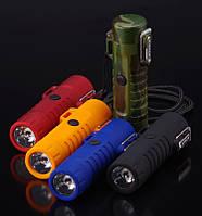 USB зажигалка электроимпульсная с фонариком