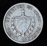Монета Кубы 20 сентаво 1969 г.