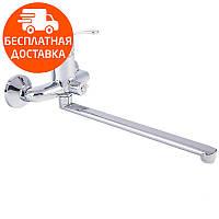 Смеситель для ванны с длинным изливом Q-tap Premiere CRM 005 NEW хром